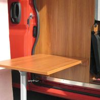 Wooden panel as dining table