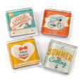 Fridge magnets with summer motives, set of 4