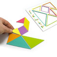Coloured magnetic sheet