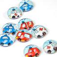 Handmade fridge magnets, Set of 3