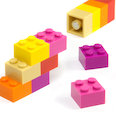 with press-fitted magnets, assorted, set of 12