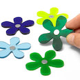 Flower magnets in winter colours, Set of 5 each