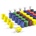 Neodymium magnets with plastic cap, Ø 14 mm, in different colours