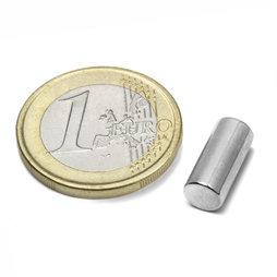 S-06-13-N, Cilindro magnético Ø 6 mm, alto 13 mm, neodimio, N48, niquelado