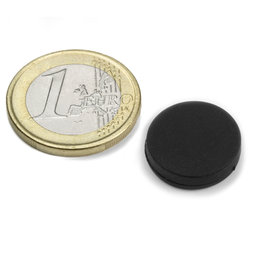 S-15-03-R, Disc magnet rubber coated Ø 16,8 mm, height 4,4 mm, neodymium, N45
