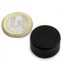 S-20-10-R, Disc magnet rubber coated Ø 22 mm, height 11,4 mm, neodymium, N42