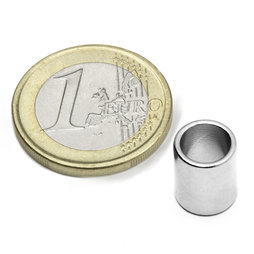 R-09-07-11-N, Ring magnet Ø 9/7 mm, height 11 mm, neodymium, N50, nickel-plated