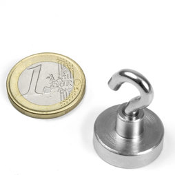 FTN-20, Hook magnet Ø 20 mm, thread M4, strength approx. 13 kg