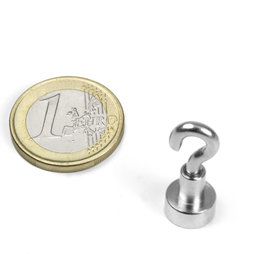 FTN-10, Hook magnet, Ø 10 mm, Thread M3, strength approx. 3 kg