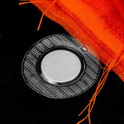 M-SEW-04, Einnähbare Magnete 18 x 2 mm rund, mit kreisrunder PVC-Hülle