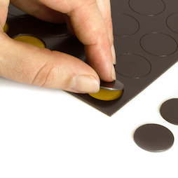 MS-TAKKI-05, Magnetic circles 20 mm, self-adhesive magnetic circles, 24 circles per sheet