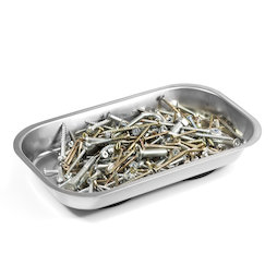 WS-MTR-03, Magnetic bowl rectangular, for nails, screws, bits, etc., 237 x 136 x 28 mm