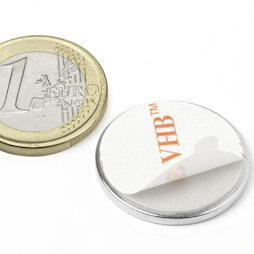 Disc magnet (self-adhesive) Ø25mm, height2mm