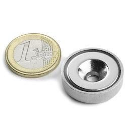 CSN-25, Countersunk pot magnet, Ø 25 mm, strength approx. 19 kg