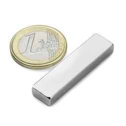 Q-40-10-05-N, Parallelepipedo magnetico 40 x 10 x 5 mm, neodimio, N42, nichelato