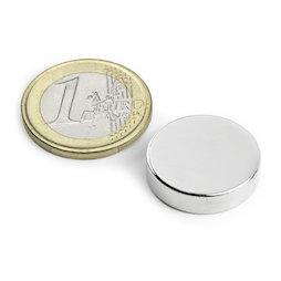 S-20-06-N, Disc magnet Ø 20 mm, height 6 mm, neodymium, N42, nickel-plated
