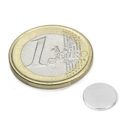 S-10-1.5-N52N, Disc magnet Ø 10 mm, height 1,5 mm, neodymium, N52, nickel-plated