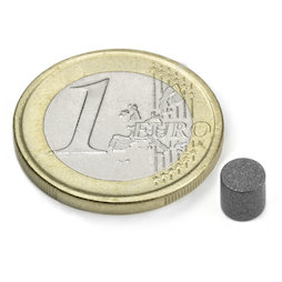 S-05-05-T, Disc magnet Ø 5 mm, height 5 mm, neodymium, N45, teflon-coated