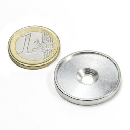 MSD-26, Metal disc with an edge and sinkhole drilling M4, Inner diameter 26 mm, as a counterpart to magnets, not a magnet!