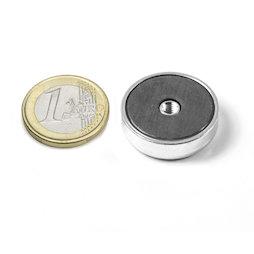 ITF-25, Ferrite pot magnet with internal thread M4, Ø 25 mm