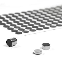 M-SIL-10, Discos de silicona Ø 10 mm, adhesivos, 136 unidades por set
