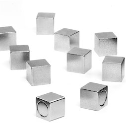M-OF-W08, Office magnets with metal casing, neodymium magnets, edge length 8 mm