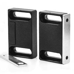 M-FURN-04, Herraje magnético ancho para muebles, de metal, con contraplaca