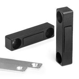 M-FURN-03, Magnetic fitting narrow for furniture, metal, with counterpart