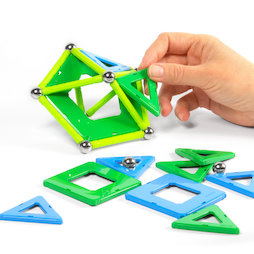 TG-GEO-04, Geomag Panels 32, magnetic construction set, 32 pieces