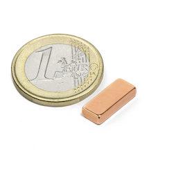 SALE-125, Bloque magnético 15 x 6 x 3 mm, neodimio, N40, cobreado