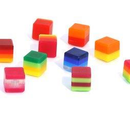 AG-02, Color Cube, imanes decorativos de colores, de vidrio acrílico