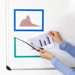 QMS-A5, Magnetic frame A5, to display notes, for whiteboards, cupboards, etc.