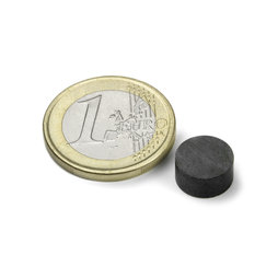 FE-S-10-05, Disc magnet Ø 10 mm, height 5 mm, ferrite, Y35, no coating