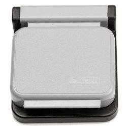 BA-013/grey, Pinzas magnéticas MAUL, adhesivas, 10 uds., gris